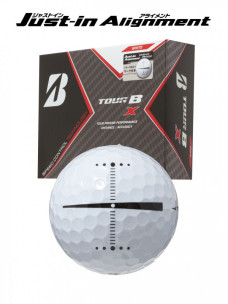 ゴルフボール BRIDGESTONE GOLF TOUR B X Just-in Alignment [1ダース:12個]